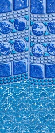 """SmartLine® 18' Round Swirl Tile Overlap Liner - 48"""" / 52"""" H, 25 Gauge"""