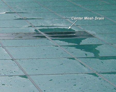 Yard Guard Rectangular Aquamaster™ Solid w/ Drain - Green