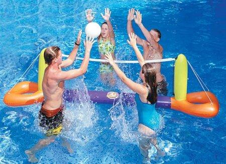 Swimline® Inflatable Splash Swimming Pool Volleyball Game