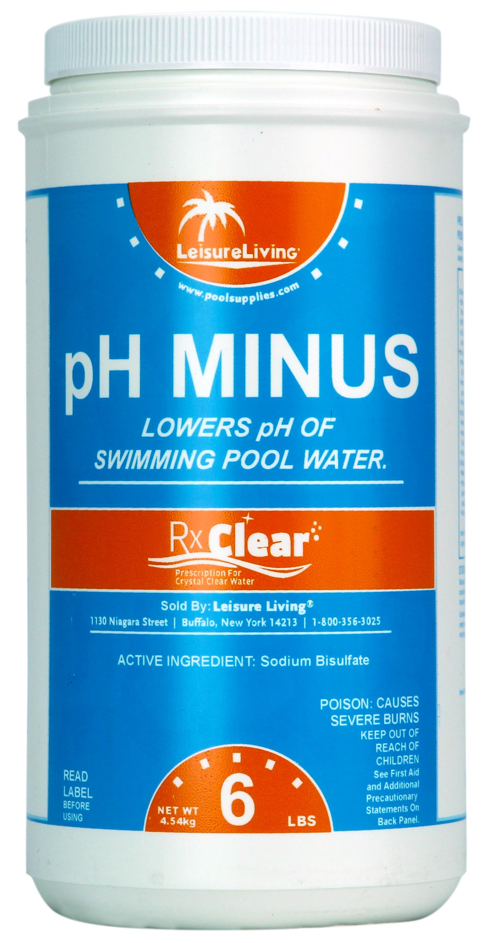 Rx Clear Swimming Pool Ph Minus 6 Lbs