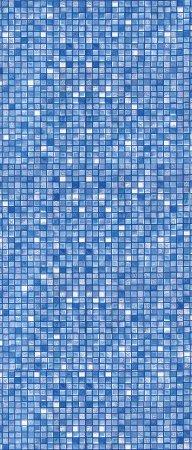 "18' x 33' Oval Blue Cube Tile Unibead Liner - 48"" H, (Various Gauges)"