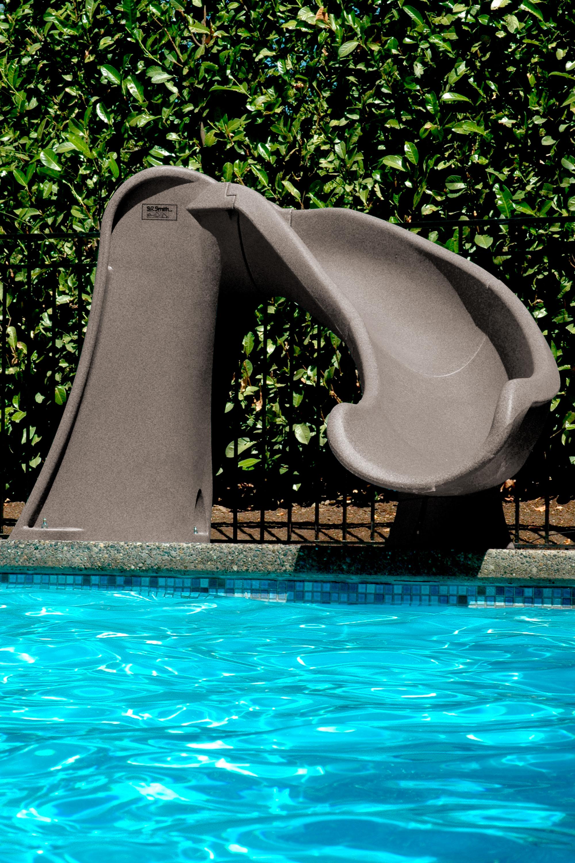 Cyclone Inground Pool Slide Sandstone