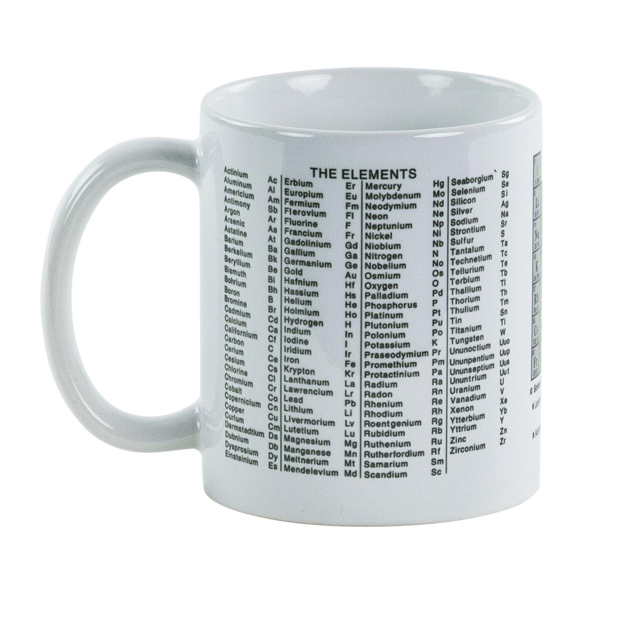Periodic Table Of The Elements Mug Scientifics Com