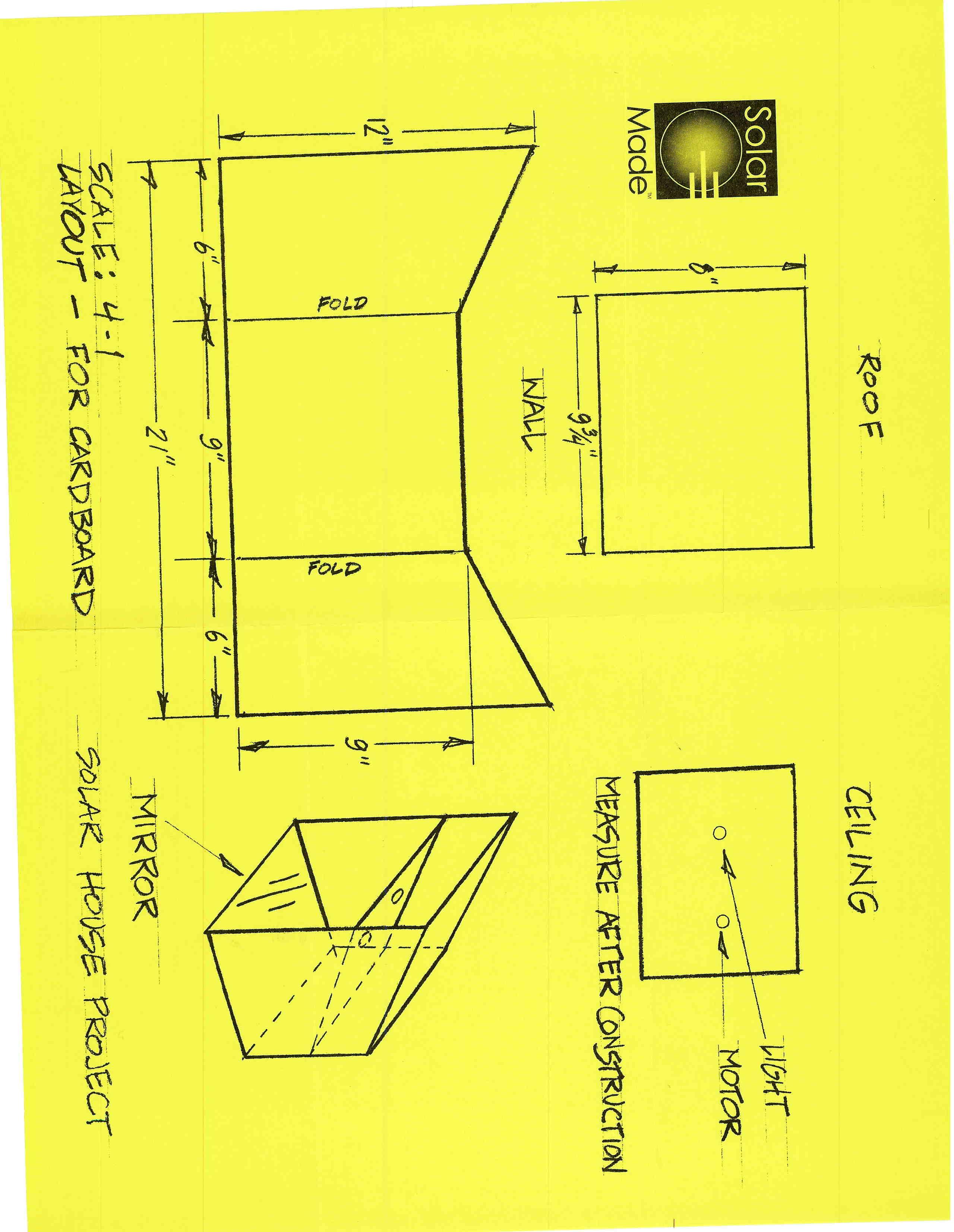 Solar panel house science fair project