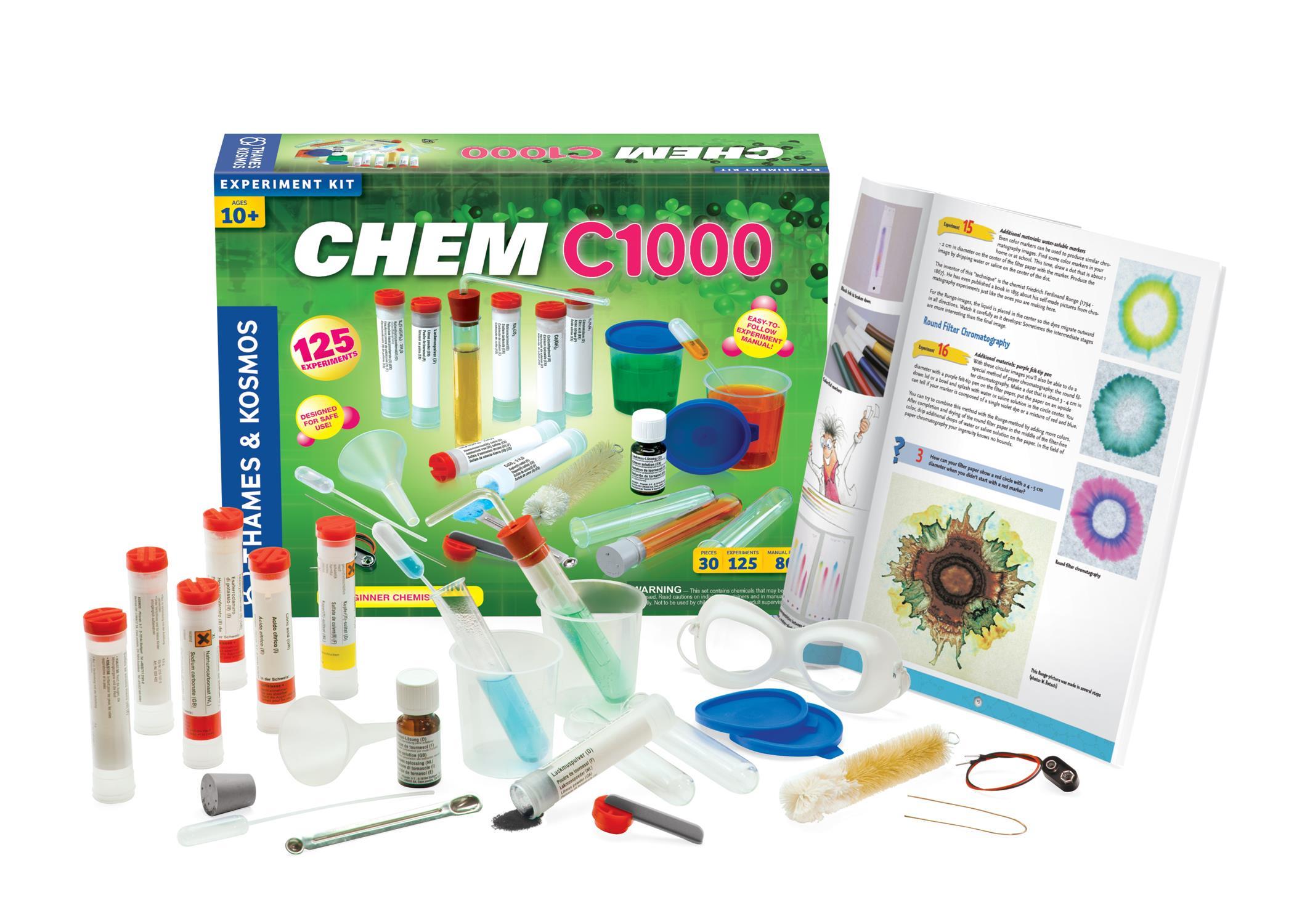 CHEM C1000 Chemistry Experiment Kit - ScientificsOnline com