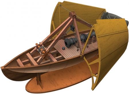 da Vinci Ship's Cannon