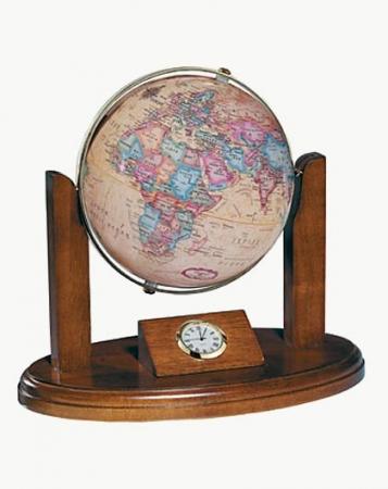 Executive Clock Globe