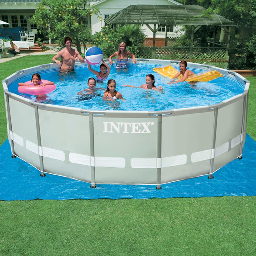 "Intex® 16' Round 48"" High Ultra Frame Swimming Pool"