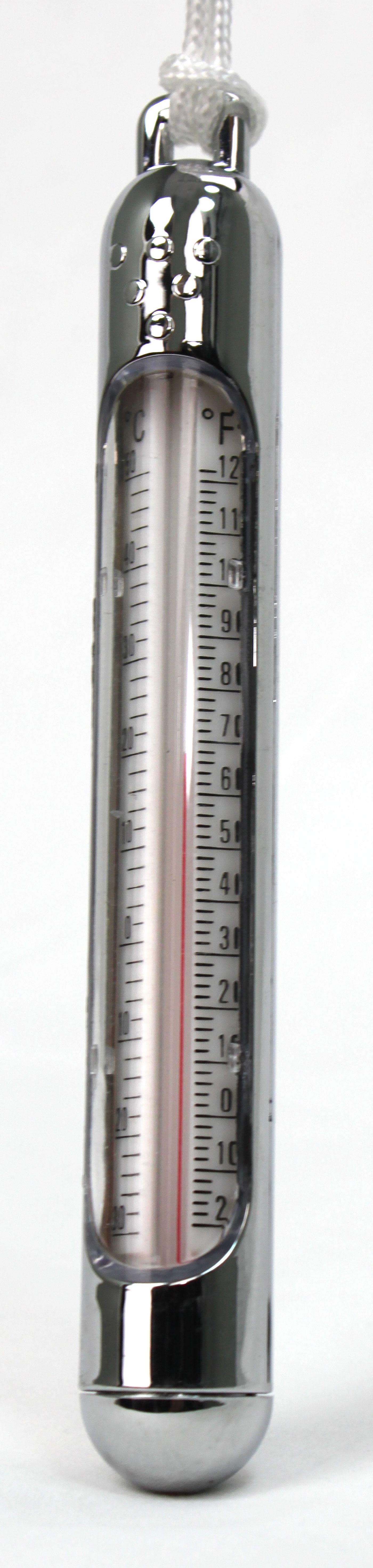 Chrome Tube Thermometer Poolsupplies Com