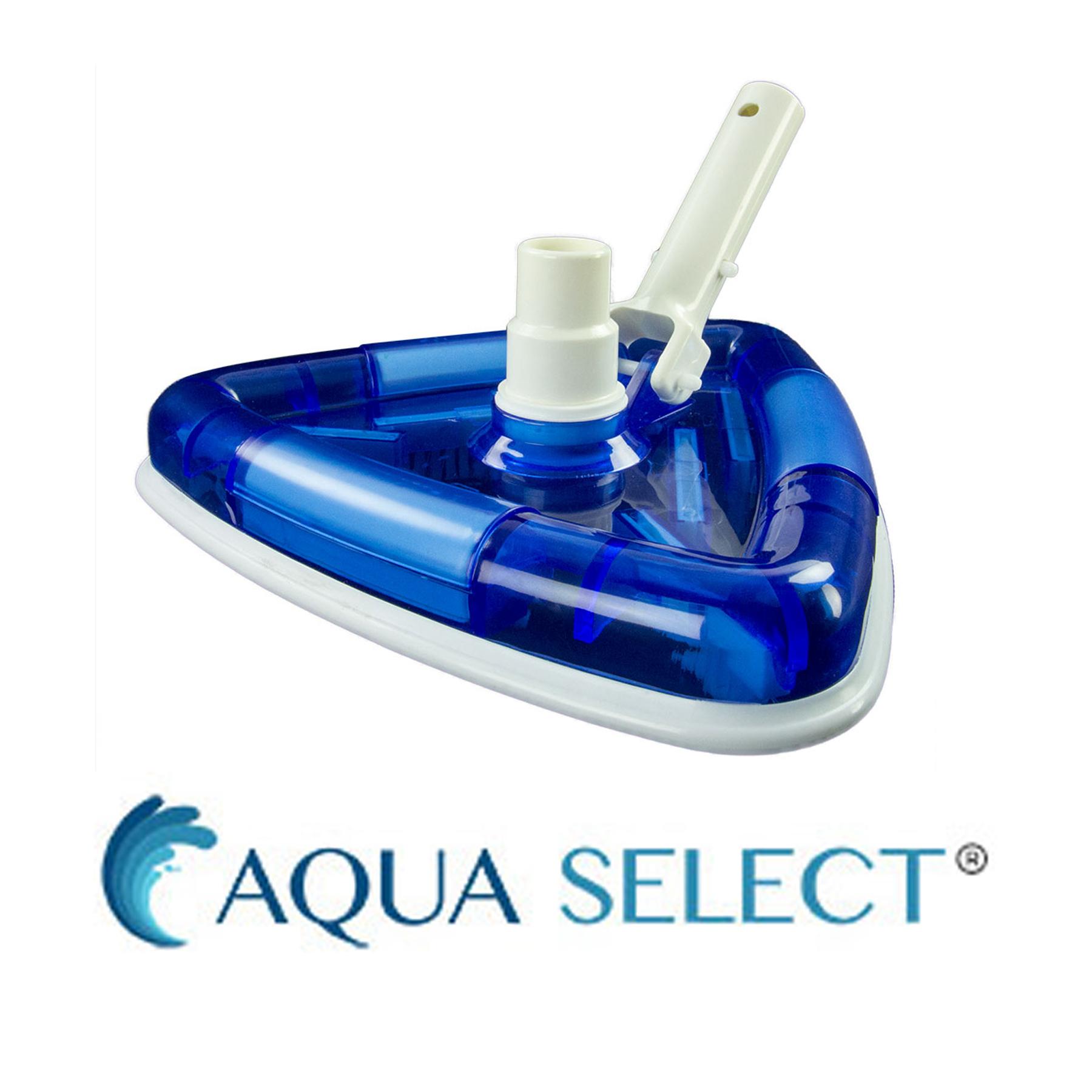 Details about Aqua Select See-Thru Triangular Swimming Pool Vacuum Head w/  Brushes
