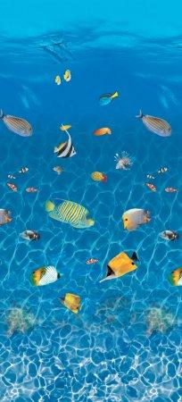 16' x 32' Rectangular Caribbean Prism Replacement Liner for Your Fanta-Sea™ Pool - 7½' Deep End, 25 Gauge
