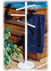 Pool Side Amp Outdoor 3 Bar Vertical Towel Rack
