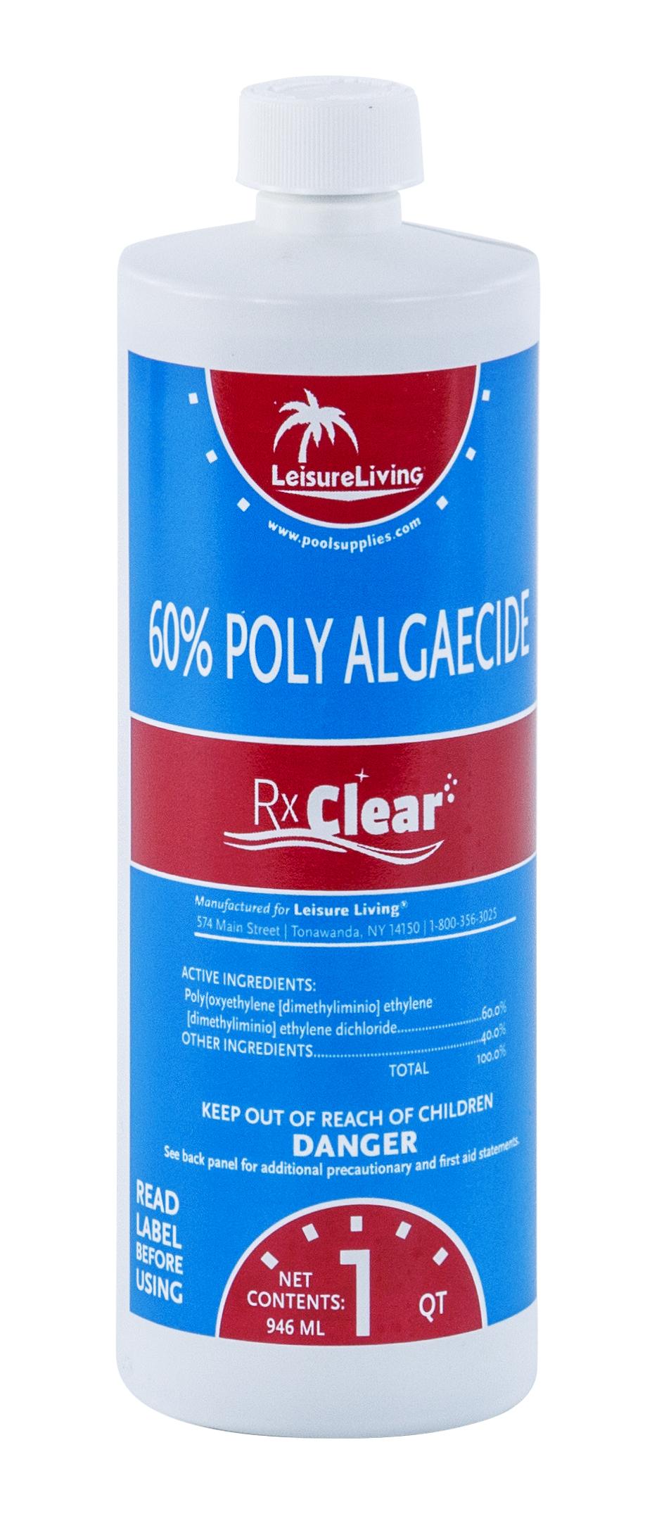 Rx Clear Swimming Pool Algaecide 60 Plus 1 Qt