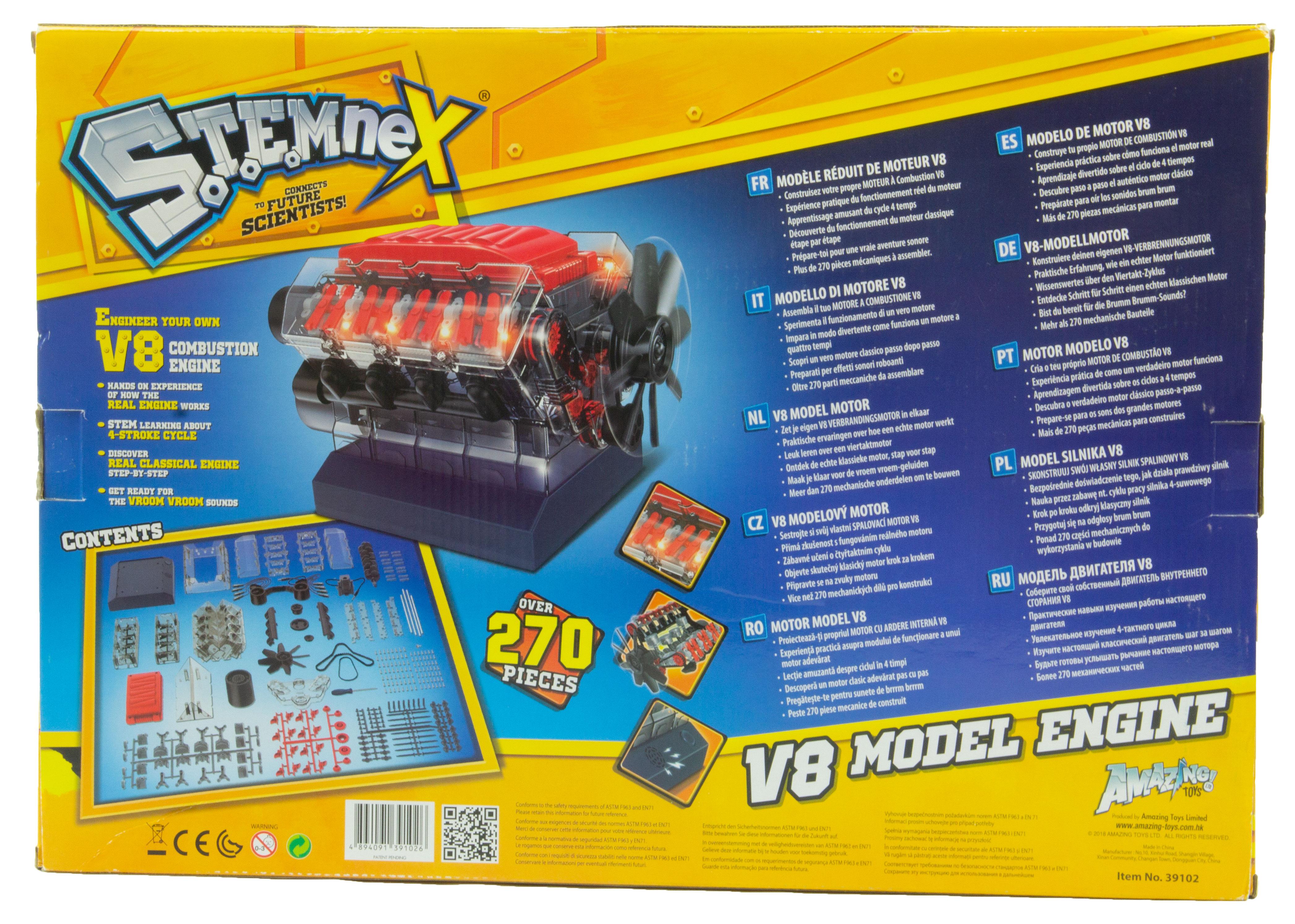 Stemnex V8 Model Engine Kit Scientificsonline Com