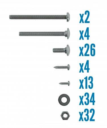 VinylWorks Slide Lock Resin A-frame Ladder W/ Barrier (Various Colors)