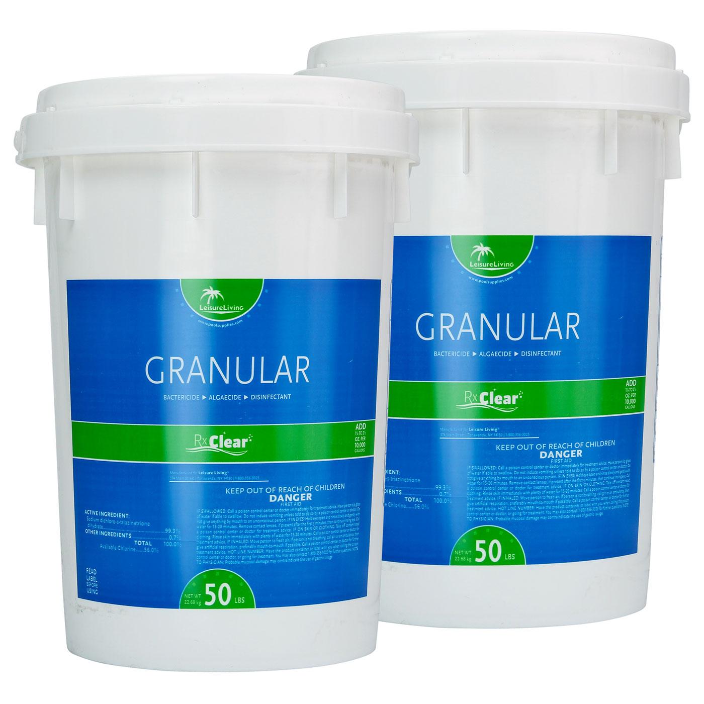 Rx Clear Granular Pool Chlorine 100 Lbs
