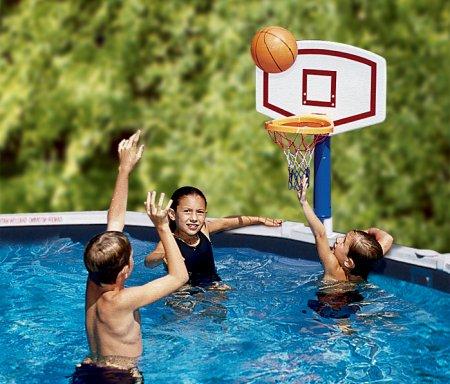 Jammin basketball game for above ground pools - Pool basketball ...