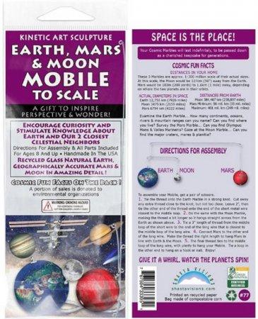 MINI EARTH,MOON & MARS MOBILE