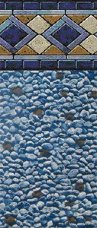 "SmartLine® 12' x 24' Oval Mosaic Diamond Unibead Liner - 48"" H, 25 Gauge"