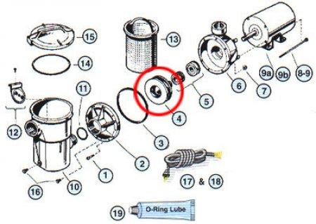 Impeller for Hayward® PowerFlo II Pump (Various HP)