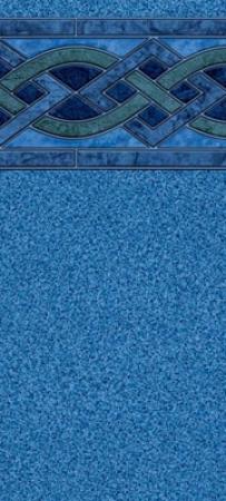 21 Round Indigo Marble Blue Speckle Unibead Liner 48 Quot H