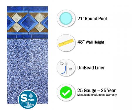Smartline 174 21 Round Mosaic Diamond Unibead Liner 48 Quot H