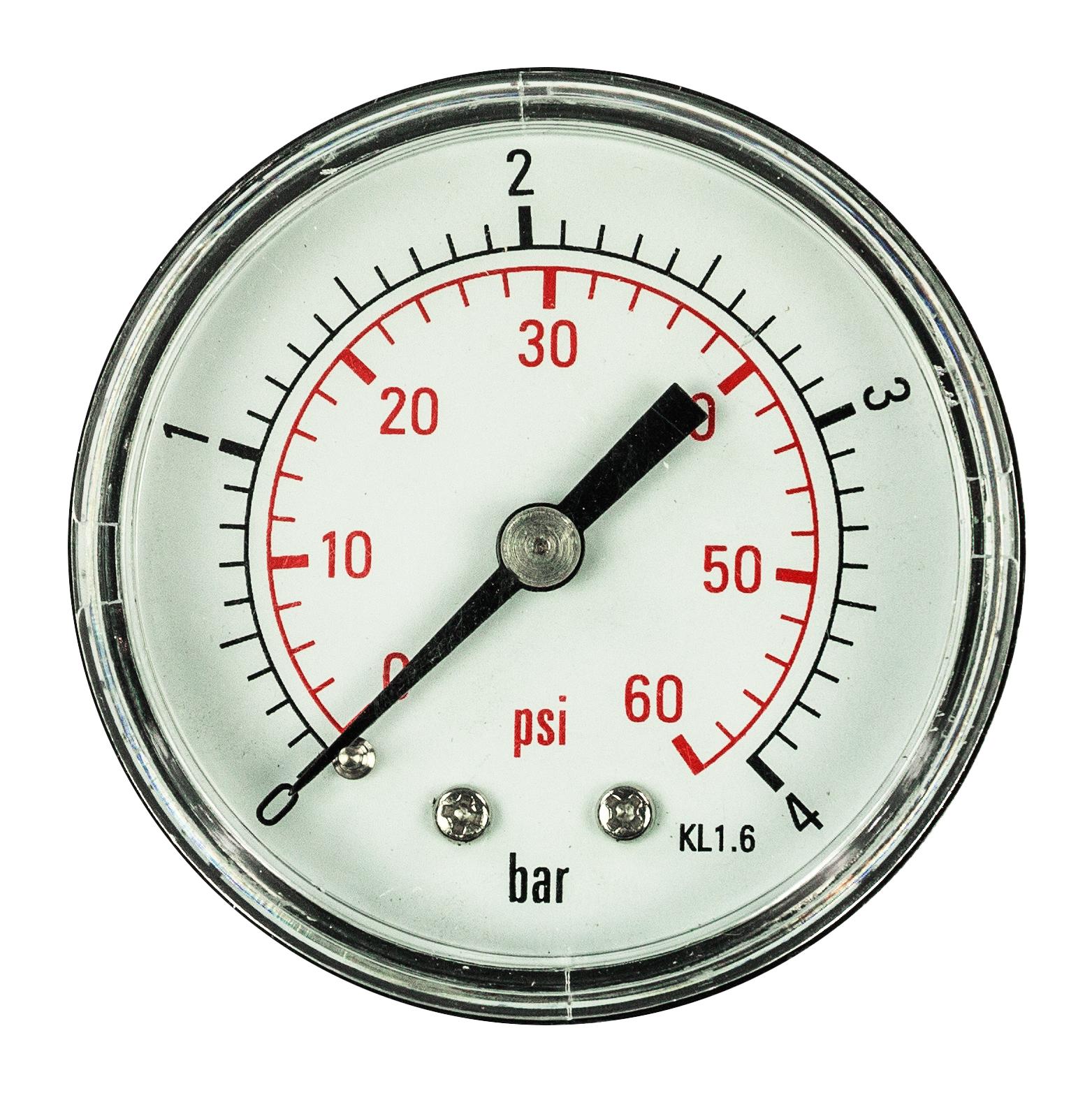 Aqua Select 174 Pressure Gauge 188 Quot Back Mount Poolsupplies Com