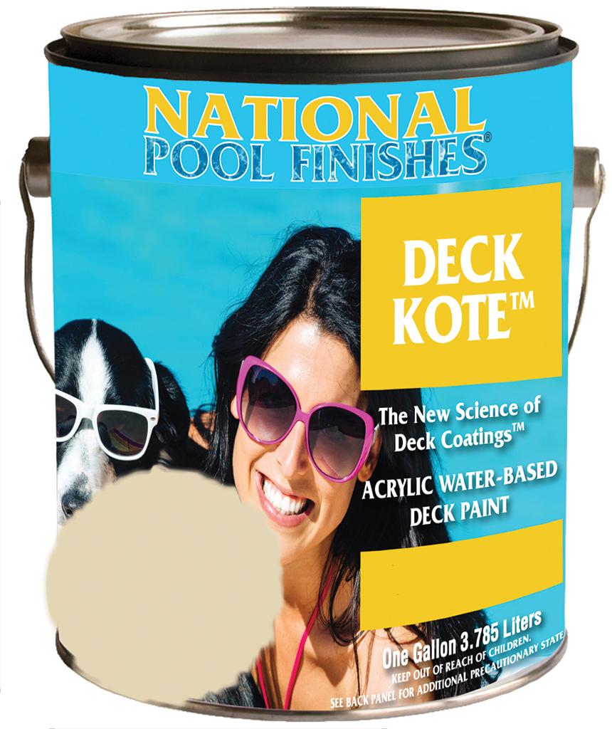 National Paint Pool Deck Kote Concrete Paint Sand Buff
