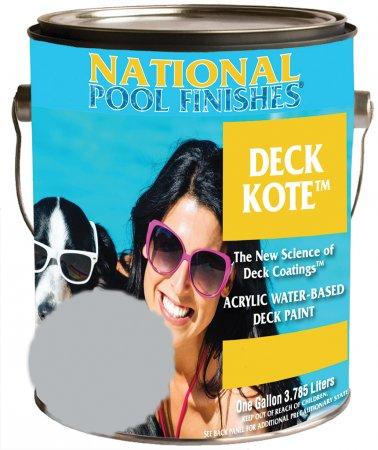 National Paint Pool Deck Kote Concrete Paint Birch Gray