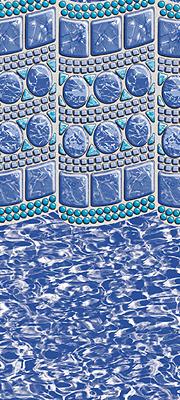 Smartline 174 24 Round Swirl Tile Overlap Liner 48 Quot 52