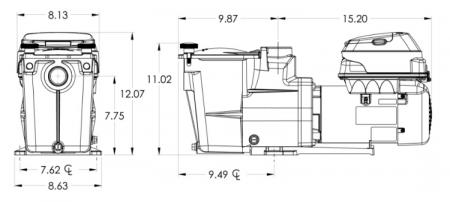 Hayward®Super Pump Variable Speed SP2603VSP - 230 Volt