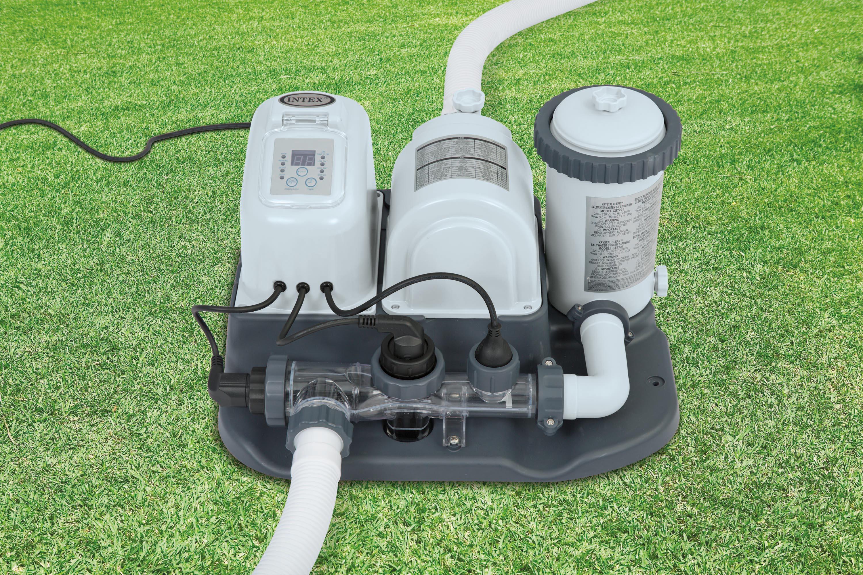 Intex krystal clear cartridge filter saltwater system - Salt water pumps for swimming pools ...