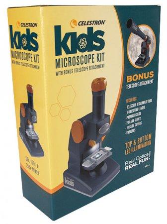 Celestron 44113 Kids Microscope Kit with Telescope attachment