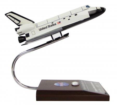 Space Shuttle Atlantis Model with Cargo Bay Liner Fragment