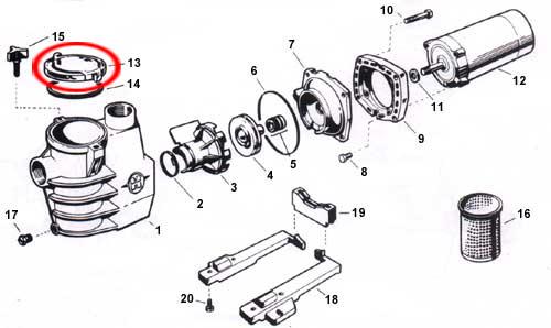 hayward max-flo strainer cover w  gasket