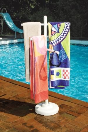 Pool Side & Outdoor 3 Bar Vertical Towel Rack