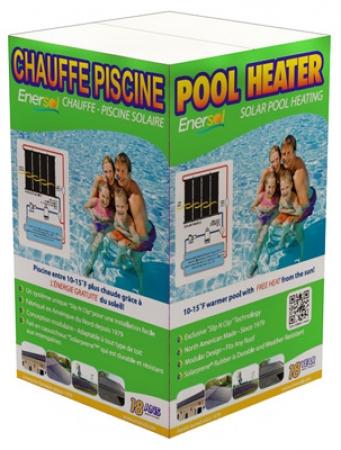 1' x 8' Enersol Solar Pool Heater w/Hardware (Various Quantity)